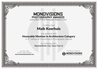 Monovisions Certificate